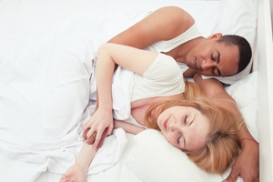 Happy Couples Sleep Closer Together